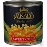 Vegetables corn Mikado sweet 340g can Ukraine