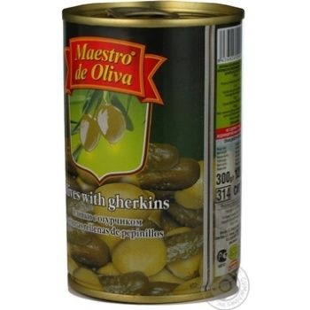 Оливки Maestro de Ol.фаршировані Огірок 300мл - купити, ціни на Novus - фото 5