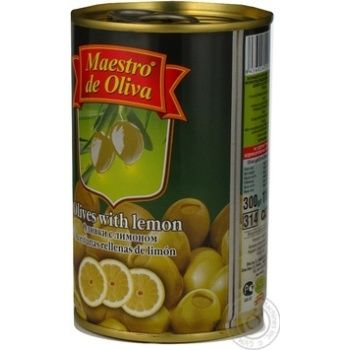 Maestro de Oliva Green Olives with lemon 300ml - buy, prices for Novus - image 7