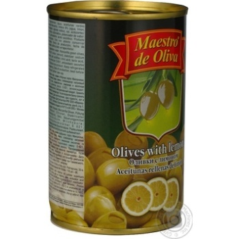 Maestro de Oliva Green Olives with lemon 300ml - buy, prices for Novus - image 4
