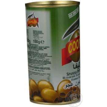 Оливки Coopoliva зеленые без косточки 370мл - купить, цены на ЕКО Маркет - фото 3