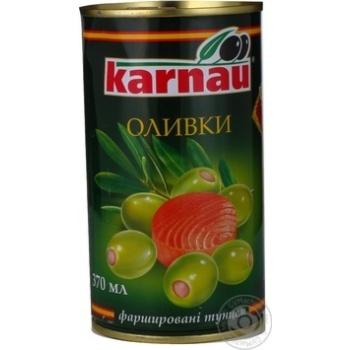 Оливки Kаrnau фаршировані Тунець 350мл