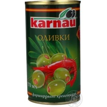 Оливки Kаrnau фаршировані Креветка 350мл