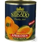 Fruit apricot Mikado in syrup 825g can Germany