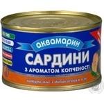 Сардины Аквамарин с добавлением масла с ароматом копчения 240г Украина