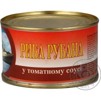 Рыба рубленая ИРФ в томатном соусе 230г железная банка Украина