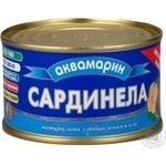 Akvamaryn Natural In Oil Sardines