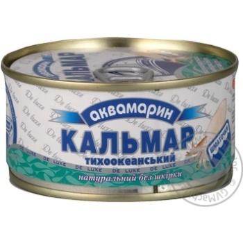 Кальмар Аквамарин тихоокеанский натуральный без кожицы 185г Украина