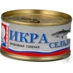 Caviar Ostrov herring salt 100g can Ukraine
