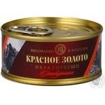 Икра Красное золото отборная лососевая зернистая красная 120г Россия