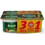Бифидойогурт Активиа Киви-Мюсли 3.1% пластиковый стакан 4х115г Украина