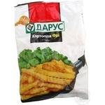 Картопля фрі шматочками хвиляста 10*10 Дарус с/м п/е 1кг