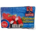 Crab sticks Esva crab precooked 100g Lithuania