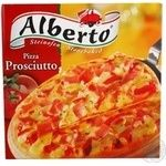 Pizza Alberto with ham frozen 320g cardboard box Germany