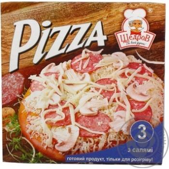 Пицца Ласка с салями замороженная 320г Украина