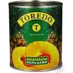 Pineapple slices Toredo in light syrup 850g Thailand