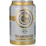 Пиво Варштайнер Премиум Верум светлое 4.8%об. железная банка 330мл Германия