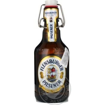 Пиво Фленсбургер Пилснер светлое 4.8%об. стеклянная бутылка 330мл Германия
