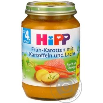 Скидка на Пюре ХиПП Лосось в морковно-картофельном пюре для детей с 8 месяцев 190г