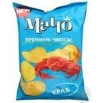 Чіпси Мачо Преміум картопляні зі смаком краба 70г Україна