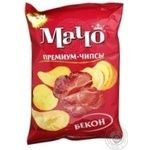 Potato chips Macho Premium bacon-flavored 70g Ukraine