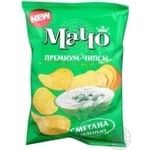 Чипсы Мачо Премиум картофельные со вкусом сметаны с зеленью 70г Украина