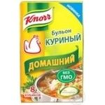 Бульон куриный Knorr Домашний 8 кубиков х 10г
