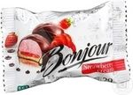 Десерт Бонжур Клубника со сливками 29г