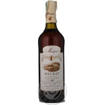 Wine muscat Magarach white sweet 13% 2007year 750ml Ukraine