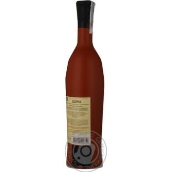 Вино красное Грузинское Застолье Саперави натуральное сухое 12% 750мл - купить, цены на Novus - фото 2