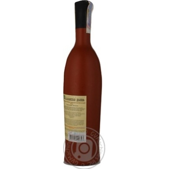 Вино красное Грузинское Застолье Алазанская Долина натуральное природно-полусладкое 11.5% 750мл - купить, цены на Novus - фото 3