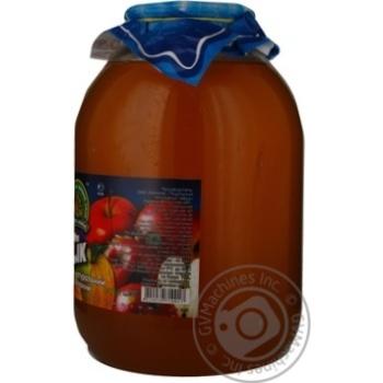 Сок Дары Ланив яблочный натуральный неосветленный первого сорта расфасованный горячим розливом стеклянная банка 3000мл Украина - купить, цены на МегаМаркет - фото 2