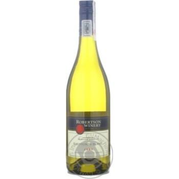 Вино совинйон Робертсон белое сухие 13% 2009год 750мл стеклянная бутылка Стелленбош Юар