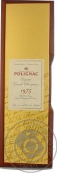Коньяк Полиньяк 40% 1975год 700мл в подарочной упаковке Франция
