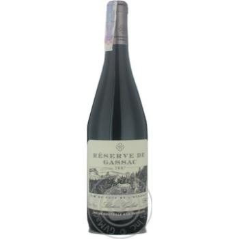 Wine Daumas gassac red dry 13% 2007year 750ml glass bottle Midi France