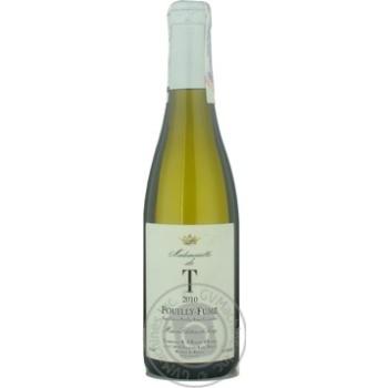 Вино Шато де траси белое сухое 13.5% 2010год 375мл стеклянная бутылка Луар вэлли Франция