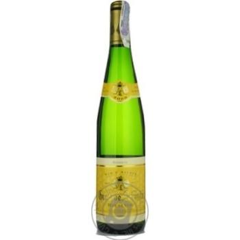 Вино белое Густав Лоренц Рислинг Резерв натуральное виноградное сухое 12.5% стеклянная бутылка 750мл Франция