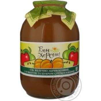 Сок Бон херсон! яблоко-абрикос 3000мл стеклянная банка Украина