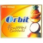Chewing gum Orbit pena kolada 31.2g Russia