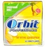 Льодяники Orbit Pro mints Тропічний мікс 13г