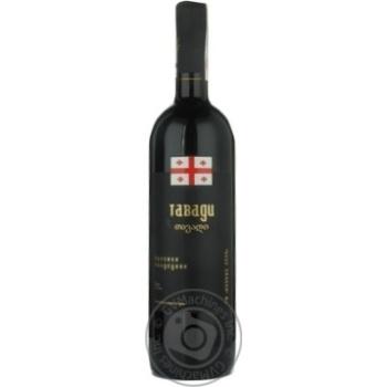 Вино Винный клуб Тавади красное полусухое 10% 750мл стеклянная бутылка Грузия