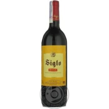 Вино Сигло красное сухое 12% 750мл стеклянная бутылка Риоха Испания