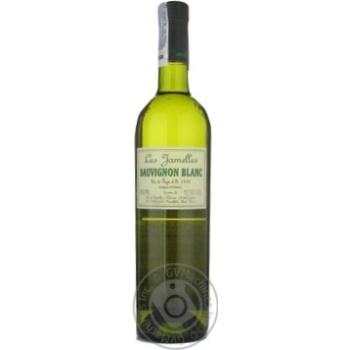 Вино совиньон-блан Ле жамель белое сухие 12.5% 2009год 750мл стеклянная бутылка Лангедок-руссийон Франция