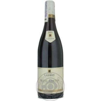 Вино Шампи красное сухое 13% 2008год 750мл стеклянная бутылка Бургонь Франция