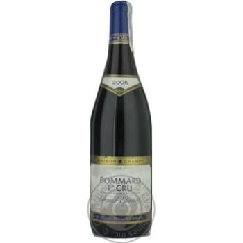 Вино Шампи красное сухие 13% 2006год 750мл стеклянная бутылка Бургонь Франция