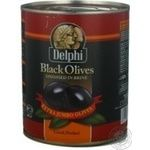olive Delfi black with bone 850ml can Greece