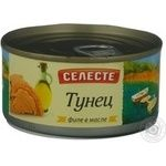 Fish tuna Seleste in oil 185g can Russia