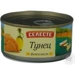 Рыба тунец Селесте консервированная 185г железная банка Россия