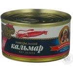 Морепродукты кальмар Капитан вкусов консервированная 185г железная банка Россия