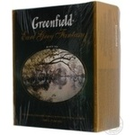 Tea Greenfield with oil of bergamot black packed 100pcs 200g cardboard packaging